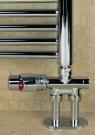 Zawór termostatyczny prosty z rurką zanurzeniową (satyna)