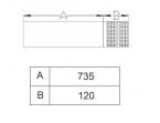 Termet Wyjście poziome koncentryczne PP (60/100)