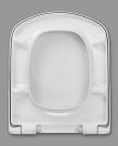Deska WC do ROCA DAMA SENSO -  wolnoopadająca, duroplast, wypinana