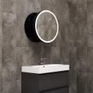 Miior Moon 60 cm (Black Edition) - Lustro wysuwane z oświetleniem LED