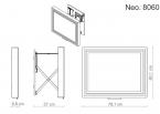 Miior Neo 8060 (srebrne) - Lustro wysuwane z oświetleniem LED