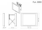 Miior Fun 8060 (białe) - Lustro wysuwane z oświetleniem LED