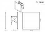 Miior Fit 6060 - Lustro wysuwane z oświetleniem LED