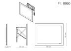 Miior Fit 8060 - Lustro wysuwane z oświetleniem LED