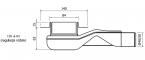 Wiper NEW Premium PONENTE 80 cm - Odpływ liniowy z kołnierzem