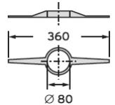 Vaillant Uchwyty centrujące rury spalinowej (? 80) (7 sztuk)