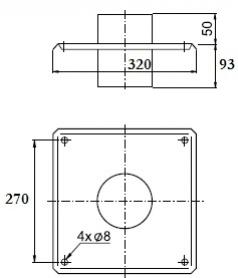 Wadex Płyta dachowa SPU (Ø 130)