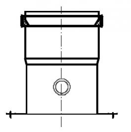 Termet Adapter powietrzny z króćcem pomiarowym i kołnierzem Ø80 (układ niezależny)