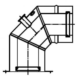 Termet (K) Kolano koncentryczne 90° (Ø80/125) z kołnierzem montażowym