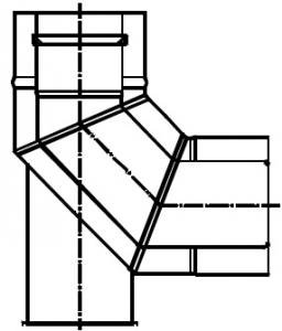 Termet Kolano koncentryczne 90° z podstawką (80/125)