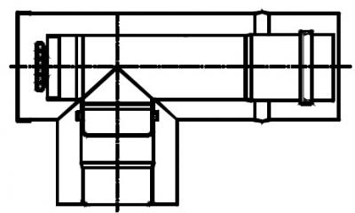 Termet Trójnik koncentryczny 90° z rewizją (80/125)