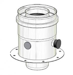 Termet (K) Adapter koncentryczny (80/125) z kołnierzem montażowym