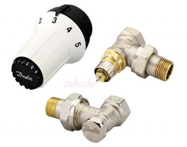 Danfoss PANDA Zestaw termostatyczny KĄTOWY 3-elementowy