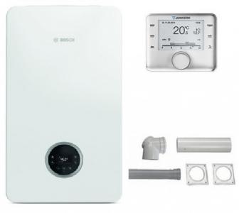 Bosch CONDENS GC2300iW 24C + CW 400 + zestaw do szachtu - (Pakiet)