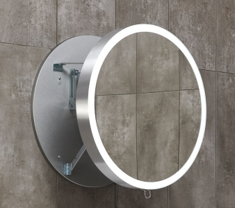 Miior Moon 60 cm (srebrne) - Lustro wysuwane z oświetleniem LED