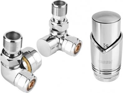 FERRO (chrom) - Zestaw termostatyczny trójosiowy